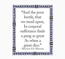 And The Poor Beetle - Shakespeare Unisex T-Shirt