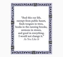 And This Our Life - Shakespeare Unisex T-Shirt