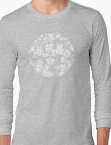 Blossoms on Charcoal Ink Long Sleeve T-Shirt