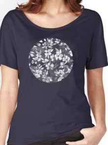 Blossoms on Charcoal Ink Women's Relaxed Fit T-Shirt