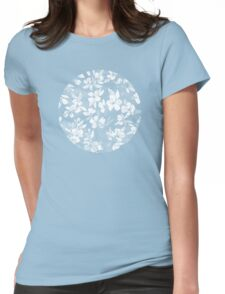 Blossoms on Charcoal Ink Womens Fitted T-Shirt