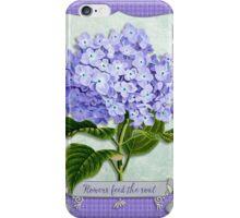Purple Hydrangea Fancy Ribbon Fiber Paper Cutouts iPhone Case/Skin
