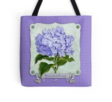 Purple Hydrangea Fancy Ribbon Fiber Paper Cutouts Tote Bag