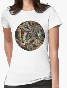 Looking for the lost toys, Vintage Collage Womens Fitted T-Shirt