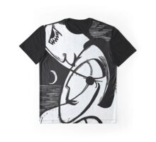 The Kiss By Moonlight and Ocean Graphic T-Shirt