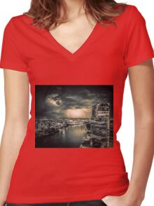 BRIS3. Women's Fitted V-Neck T-Shirt