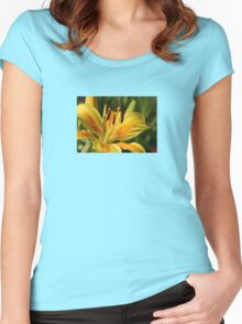 Beautiful Yellow Lily Women's Fitted Scoop T-Shirt