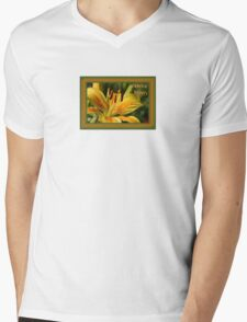 Birthday Wishes Greeting Card With A Yellow Lily T-Shirt