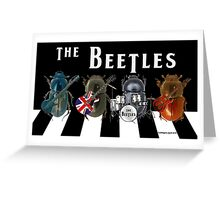 Beetles on the Road Greeting Card