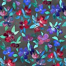 Blossoms in Cherry, Plum and Purple by micklyn
