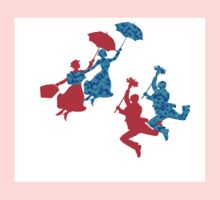 Blue and Red Mary Poppins  Kids Tee
