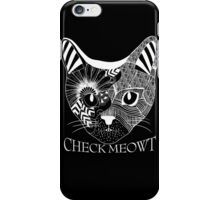 Check Meowt. iPhone Case/Skin