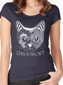 Check Meowt. Women's Fitted Scoop T-Shirt