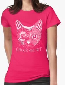 Check Meowt. Womens Fitted T-Shirt