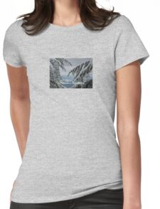 Pine Trees and Snow Season's Greetings From Fethiye Womens Fitted T-Shirt