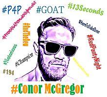 Conor McGregor Hashtags Photographic Print