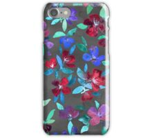 Blossoms in Cherry, Plum and Purple iPhone Case/Skin