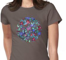 Blossoms in Cherry, Plum and Purple Womens Fitted T-Shirt