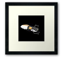 Orange portal gun Framed Print