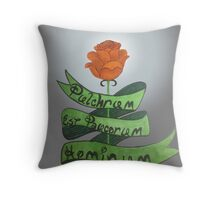 beauty is for the few Throw Pillow