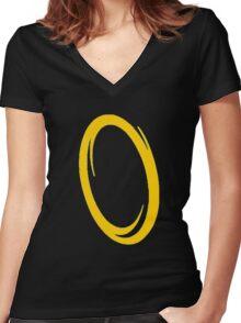 Orange portal Women's Fitted V-Neck T-Shirt
