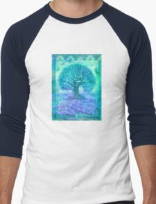 Tree of Life mixed media Men's Baseball ¾ T-Shirt