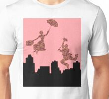 Fluffy Pink Mary Poppins  Unisex T-Shirt