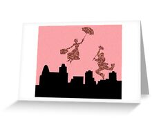 Fluffy Pink Mary Poppins  Greeting Card