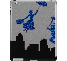 Bright Blue in the nightsky Mary Poppins  iPad Case/Skin