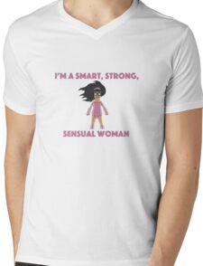Tina Smart Strong Sensual woman Mens V-Neck T-Shirt