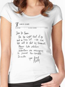 Marty's letter to Doc - Back to the Future Women's Fitted Scoop T-Shirt