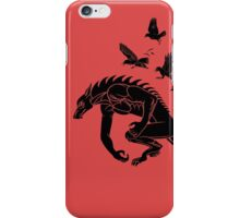 Werewolf Running from Ravens iPhone Case/Skin