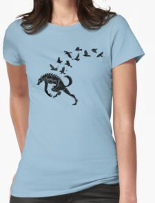 Werewolf Running from Ravens Womens Fitted T-Shirt