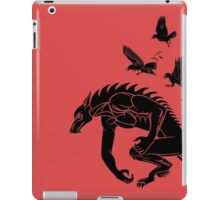 Werewolf Running from Ravens iPad Case/Skin