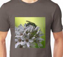 Gooseneck Loostrife and Metallic Green Bee Unisex T-Shirt