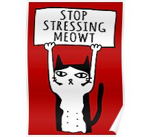 Stop Stressing Meowt. Poster