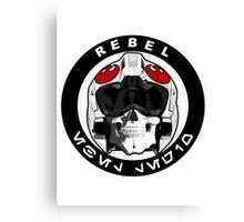 starwars inspired rebel biker patch Canvas Print
