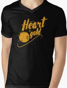 Heart of Gold Mens V-Neck T-Shirt