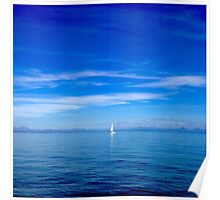 Sailing by. Poster