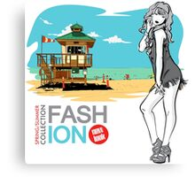 Fashion Girl Canvas Print