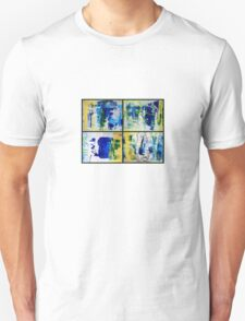 Four states of Matter & Woman 4 parts installation - Huge Original mixed media abxract painting Unisex T-Shirt
