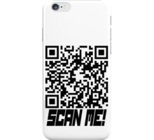 prank scan black fill iPhone Case/Skin