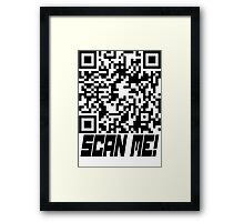 prank scan black fill Framed Print
