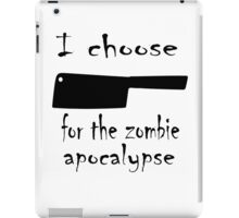Zombie cleaver iPad Case/Skin