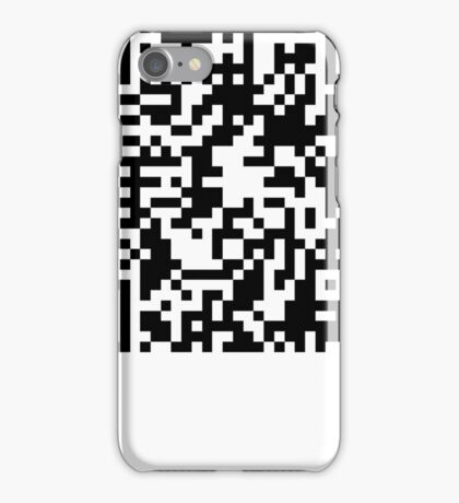 prank scan white fill iPhone Case/Skin