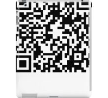 prank scan white fill iPad Case/Skin