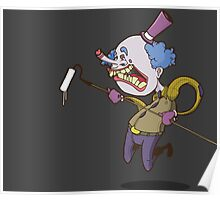 Buffy the Clown Roller Graffiti Character Poster