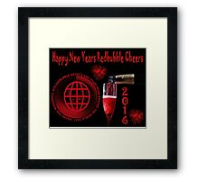 HAPPY NEW YEARS REDBUBBLE & TO ALL THE WONDERFUL ARTISTS WHO MAKE UP THIS WONDERFUL SITE HUGS! Framed Print