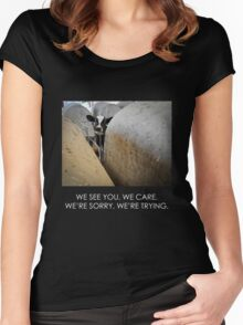 We see you. We care. (Image + text) Women's Fitted Scoop T-Shirt