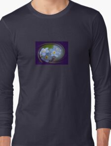 Forget-Me-Not with Decorative Border Greeting Card Long Sleeve T-Shirt